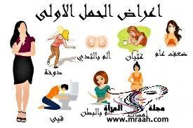 ماهى أعراض الحمل الاولى